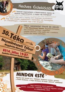 Téka Népművészeti Tábor 2015 Észak-Alföld Hagyományőrző, Téka Népművészeti Tábor 2015 észak-alföldi hagyományőrző programok, népi kultúra programok Észak-Alföldön,