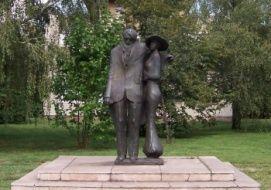 Ady Lédával_Közép-Dunántúl Köztéri szobor , Ady Lédával...