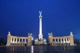 Millenniumi emlékmű_Budapest és környéke régió Köztéri szobor ,...